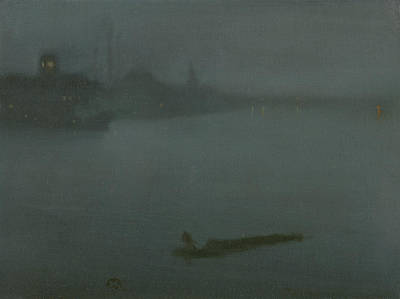Tonalist Painting - Nocturne In Blue And Silver by James Abbott McNeill Whistler