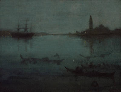 Tonalist Painting - Nocturne In Blue And Silver The Lagoon Venice by James Abbott McNeill Whistler