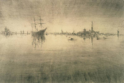 Tonalist Relief - Nocturne by James Abbott McNeill Whistler