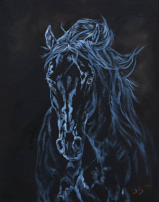 Emu Painting - Nocturno by Jana Goode