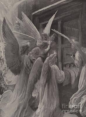 Angels Drawing - Noel by Amedee Forestier