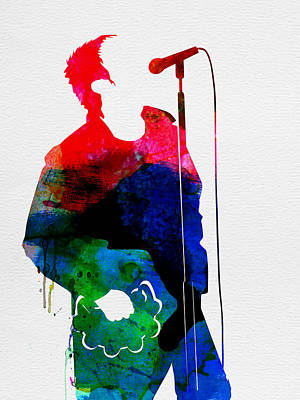Noel Watercolor Print by Naxart Studio