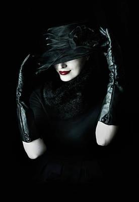 Femme Photograph - Noir by Cambion Art