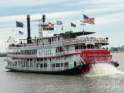 Nola Natchez Riverboat Print by Joy Tudor