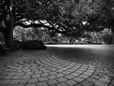 Music Photograph - Nola - Treme - Congo Square 001 Bw by Lance Vaughn