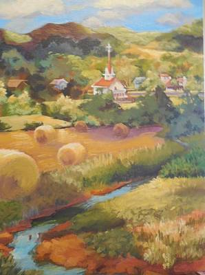 Bales Painting - Nolandsville Church by Katie Lindsey