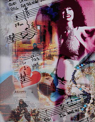 Songstress Digital Art - Non Je Ne Regrette Rien by Laura Nance