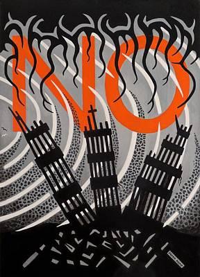 Anti-war Painting - No...never Again by Derek Ian Kemp