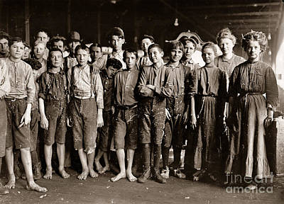 White Painting - Noon Hour Workers In Enterprise Cotton Mill by Celestial Images