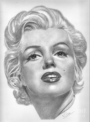 Norma Jean Drawing - Norma Jean by Karen  Townsend