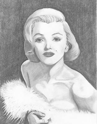Norma Jean Drawing - Norma Jean by Seventh Son