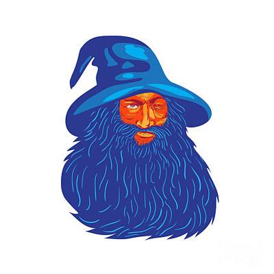 Hairstyle Digital Art - Norse God Odin Beard Wpa by Aloysius Patrimonio