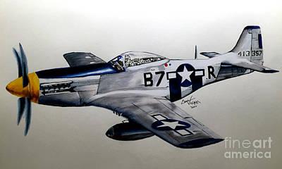 North American P-51 Mustang Original by Chris Volpe