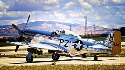 Er Photograph - North American P-51d Mustang Hell-er Bust by Gus McCrea