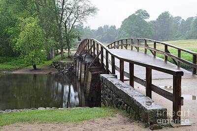 North Bridge Print by Leslie M Browning