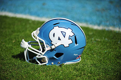 Tar Photograph - North Carolina Tar Heels Football Helmet by Replay Photos