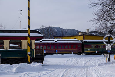 North Conway Photograph - North Conway Nh Scenic Railroad by Toby McGuire