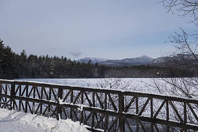 North Conway Photograph - North Conway Winter Mountains Bridge by Toby McGuire
