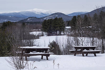 North Conway Photograph - North Conway Winter Mountains by Toby McGuire