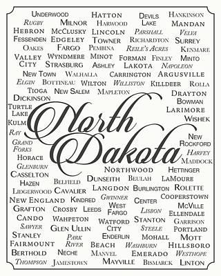 West Fork Digital Art - North Dakota by Finlay McNevin