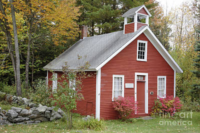 North District School House - Dorchester New Hampshire Print by Erin Paul Donovan