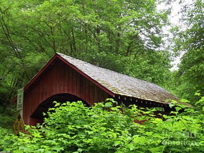 Historical Bridges Digital Art - North Fork Yachats Bridge 1 by Methune Hively