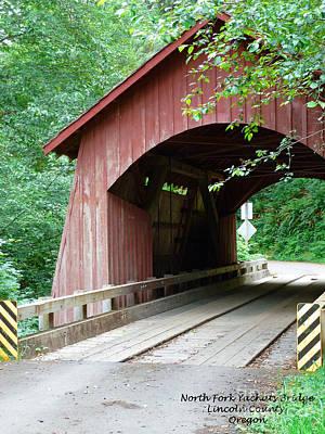Historical Bridges Digital Art - North Fork Yachats Bridge 2 by Methune Hively