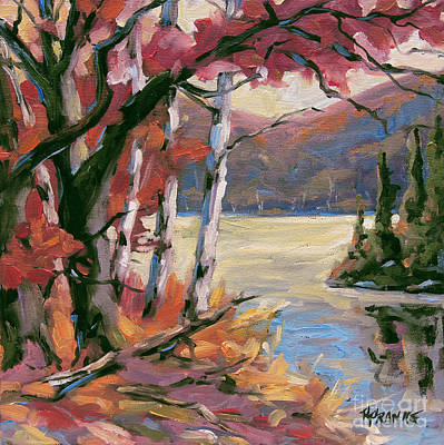 Montreal Painting - North Lake By Prankearts by Richard T Pranke
