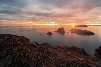 Juan De Fuca Photograph - North Puget Sound Sunset by Ryan Manuel