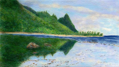 Kauai Painting - North Shore Reflections by Kenneth Grzesik