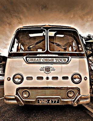 Bus Photograph - North Wales Nostalgia by Meirion Matthias