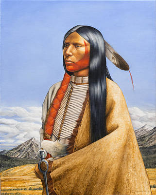 Breastplate Painting - Northern Cheyenne 1860 by Milos Englberth