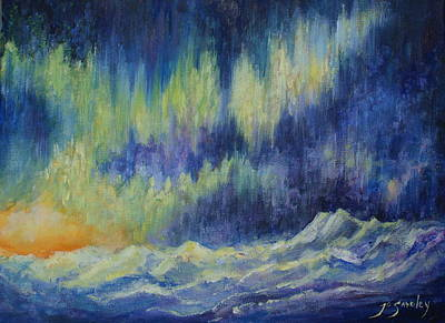 Arctic Dog Painting - Northern Experience by Joanne Smoley