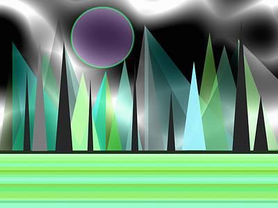 Abstract Digital Art - Northern Lights by Kathleen Sartoris