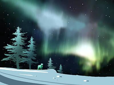 Northern Lights Print by Paul Sachtleben
