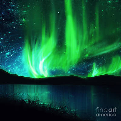 Discharge Photograph - Northern Lights by Setsiri Silapasuwanchai