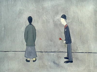 Naive Art Painting - British Industrial Art - Northern Valentine Love by Walker Scott