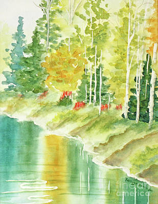 Autumn Painting - Northern Michigan Reflections by Kathryn Duncan
