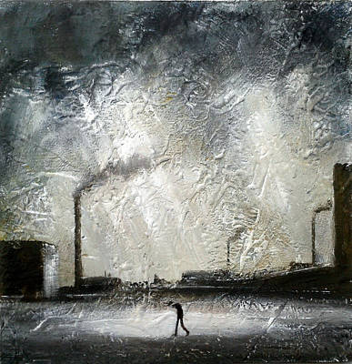 Chimneys Painting - Northern Soul by Walker Scott British Industrial Northern Art
