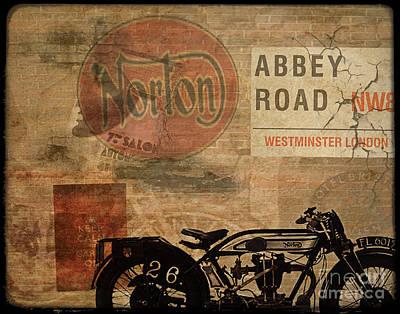 Motorcycle Digital Art - Norton by Cinema Photography