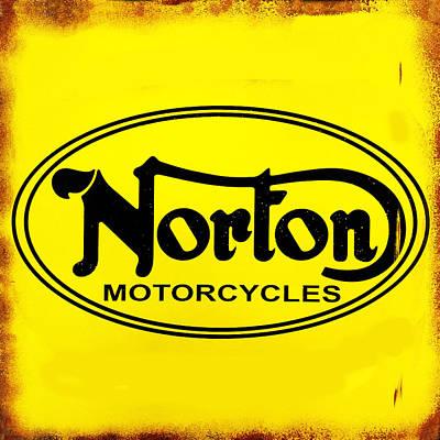 Vintage Signs Photograph - Norton Motorcycles by Mark Rogan