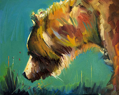 Painting - Nosey Bear by Diane Whitehead