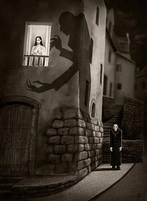 Nosferatu Digital Art - Nosferatu by Eduardo Avanzini