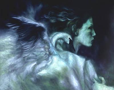 Swan Goddess Painting - Nostalgia by Ragen Mendenhall