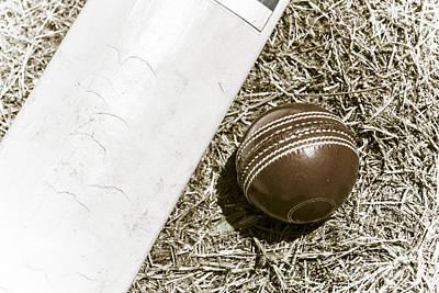 Nostalgic Cricket Bat And Ball Print by Jorgo Photography - Wall Art Gallery