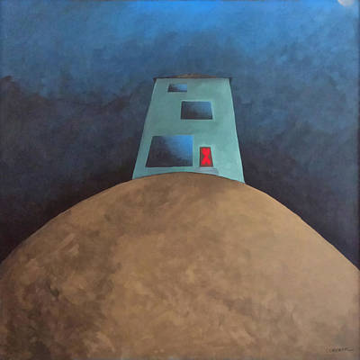 Outsider Painting - Not This House by Cynthia Decker