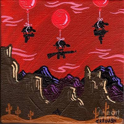 Sci-fi Painting - Not2b Trusted by Dan Keough