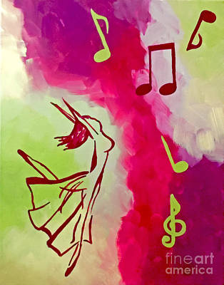 Abstract Handbag Painting - Notes Of Delight by Jilian Cramb - AMothersFineArt