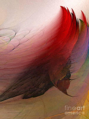 Contemporary Abstract Digital Art - Nothing Lasts by Karin Kuhlmann