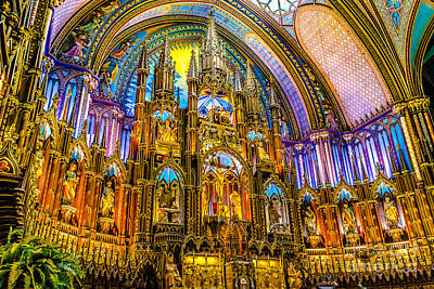 Relic Glass Photograph - Notre Dame Basilica - Montreal by Claudia M Photography